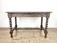 Antique 19th Century Carved Oak Table (11 of 11)