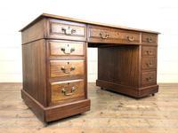 Antique Kneehole Desk (10 of 12)