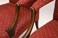 Pair of Antique Mahogany Chippendale Style Armchairs (3 of 12)