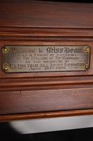 Edwardian Walnut Music Cabinet Dated 1910 (13 of 13)
