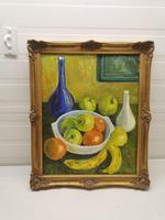 Still Life  of Fruit in Bowl Oil Painting (2 of 4)
