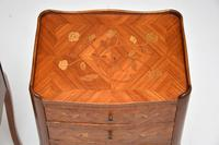 Pair of Antique French Inlaid Marquetry Bedside Tables (7 of 10)