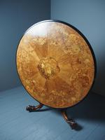 Large Victorian Marquetry Circular Breakfast Table (5 of 9)