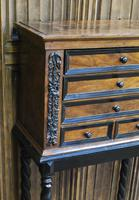 Walnut Collectors Cabinet on Stand (2 of 9)