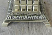 Fine William Tonks & Sons Aesthetic Movement Brass Inkwell with Liner c.1880 (3 of 5)