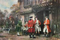 ''Before The Hunt'' Wonderful Large Vintage 18th Century Style Print on Board Picture (2 of 12)