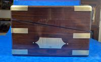 Victorian Full Brassbound Rosewood Writing Slope (3 of 19)