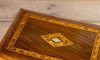 Figured Walnut Tunbridge Table Box 1880 (4 of 7)
