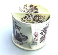 A Rare Prattware / Transferware Pottery Shaving Mug C.1850 (5 of 6)