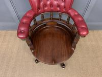 Victorian Leather Upholstered Revolving Desk Chair c.1885 (16 of 16)