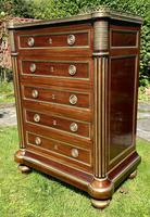 Fine Quality Brass Inlaid Commode (8 of 8)
