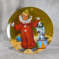 """Tommy The Clown"" Limited Edition Collectors Plate"