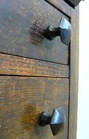 Delightful Arts & Crafts Oak Bureau (9 of 19)
