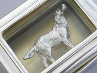 Early 20th Century Parcel Gilt Silver Table Vesta Case with Internal Cast Silver Spaniel by Goldsmiths & Silversmiths, London, 1912 (20 of 20)