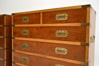 Pair of Yew Wood Military Campaign Style Chests (6 of 14)
