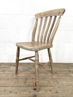 Set of Four Slat Back Antique Kitchen Chairs (6 of 10)
