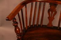 Yew Wood High Back Windsor Chair Rockley Made (6 of 9)