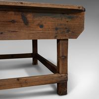 Large Antique Textiles Table, English, Pine, Shop, Retail, Display, Victorian (12 of 12)