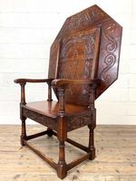 Large Early 20th Century Antique Oak Monk's Seat (7 of 10)