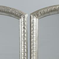 Fabulous Pair of 19th Century French Silvered Overmantle  Mirrors (3 of 8)