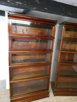 Pair of English Stamped Globe Wernicke Bookcases (4 of 9)