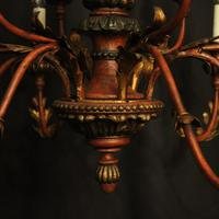 Florentine 12 Light Polychrome & Toleware Chandelier (8 of 10)
