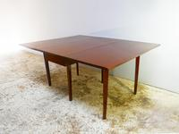 Early 1900's English vintage solid mahogany drop leaf table (4 of 4)