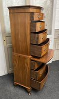 Bow Front Burr Walnut Chest on Chest of Drawers (5 of 13)