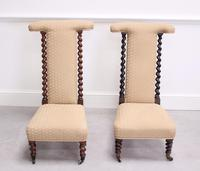 Pair of Victorian Rosewood Prie Dieu Chairs (3 of 3)