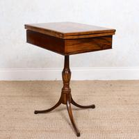 Rosewood Games Table Chess Board Folding Card Table 19th Century (8 of 16)