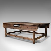 Large Antique Textiles Table, English, Pine, Shop, Retail, Display, Victorian (3 of 12)