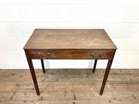 Antique Georgian Oak Side Table with Drawer (3 of 10)