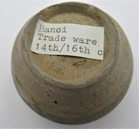 Small Vietnamese Hanoi trade ware jar or vase, stoneware, celadon type glaze, c1400 (3 of 5)