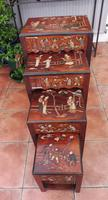 Superb Quality Set of 4 Chinese Nest of 4 Tables 1920s