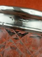 Antique Sterling Silver Hallmarked Cut Glass Faux Tortoise Shell Jar C1897 London (8 of 8)