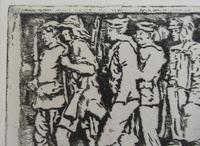 R S Forrest print, Scottish National War Memorial, after Meredith Williams c1927 (3 of 8)