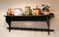 French Painted Wall Shelves With Coat Hooks (4 of 9)