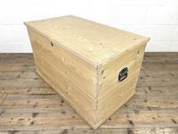Antique Pine Trunk or Storage Chest (9 of 10)