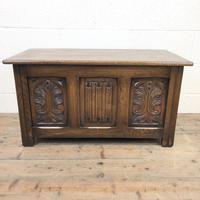 Vintage Carved Oak Blanket Box (2 of 10)