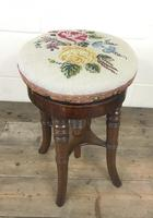 Antique Victorian Walnut Piano Stool (9 of 9)