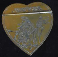 Engraved Heart Shaped Brass Snuff Box (2 of 9)