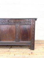18th Century Antique Oak Panelled Coffer (3 of 12)