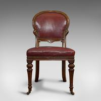 Pair of Antique Chairs, Walnut, Leather, Seat, Doveston, Bird & Hull, Victorian (4 of 12)
