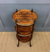 Victorian Inlaid Rosewood Etagere (4 of 9)