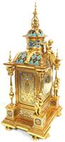 Incredible Antique French Champlevé Ormolu Bronze 8 Day Striking Mantel Clock c.1860 (5 of 13)