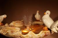 Unusual Vallauris Ceramic Love Birds & Dolphins Free Standing Centre Fountain (8 of 20)