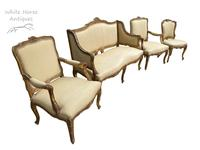 Exceptional Antique French 19th Century Gold Gilt Upholstered Salon Suite (8 of 9)