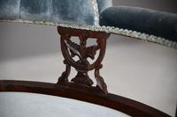 Victorian Upholstered Button Back Chaise Longue (8 of 11)