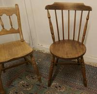 Collection of 3 Stripped Beech & Elm Country Windsor Chairs (2 of 12)