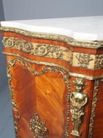Antique Louis XVI Style Kingwood & Marble Cabinet (4 of 18)